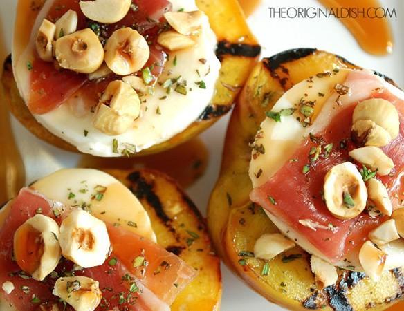 Grilled Peaches With Fresh Mozzarella Prosciutto Amp Marsala Syrup Florida Home Magazine